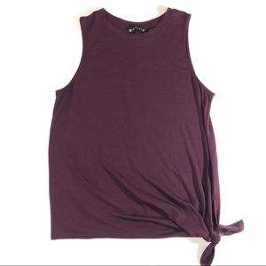 Athleta Maroon side tie tank